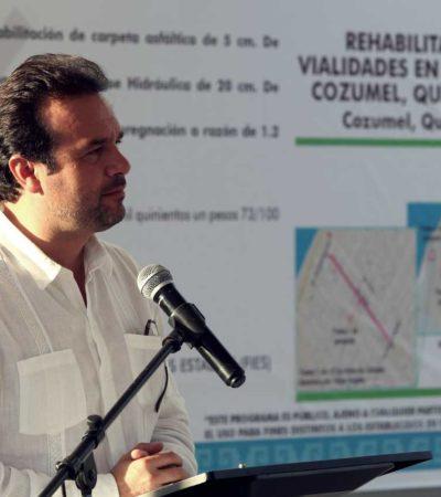 Con trabajo coordinado, damos resultados concretos a la gente de Cozumel, asegura PedroJoaquín en gira con el Gobernador