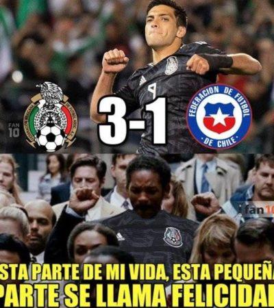 GALERÍA | Gana México ante Chile en el debut del 'Tata' Martino, pero no se salva de los memes…
