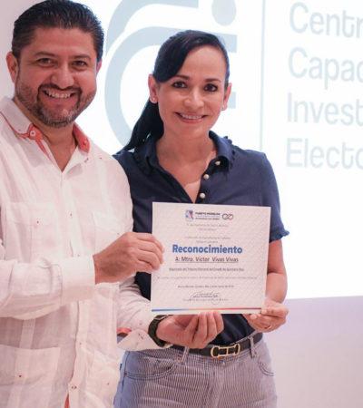 Imparte Teqroo el curso 'Prevención del Delito y Blindaje Electoral' en Puerto Morelos