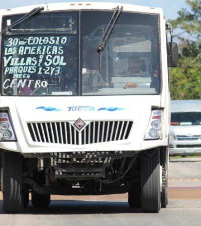 Fomenta el Ayuntamiento de Solidaridad monopolio en transporte público al no exigir título de concesión; en 6 años sólo se ha recaudado un millón 901 mil pesos por 'permisos'