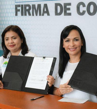 Firma Laura Fernández convenio con el Gobierno del Estado para ampliar la cobertura de salud en Puerto Morelos