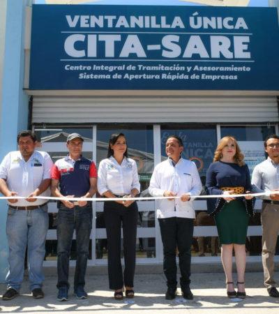 Inauguran el módulo CITA-SARE para fortalecer la economía de Puerto Morelos