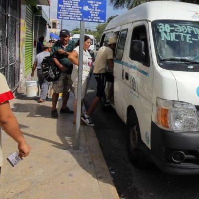 Implementan operativos en el transporte público por irregularidades en el servicio, en Playa del Carmen