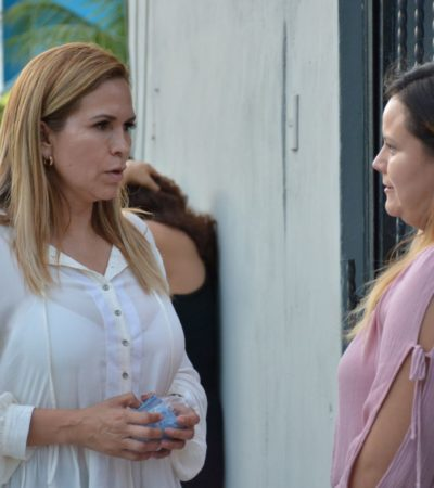 El gobierno de Laura Beristain es un retroceso para Solidaridad, dice Lili Campos al escuchar quejas de vecinos por deficiencia en servicios públicos de Villamar 1