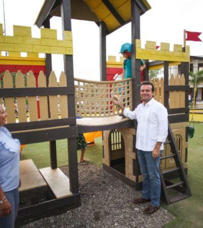 Pedro Joaquín entrega trabajos de alumbrado público, construcción de andadores y pavimentación de ciclovías en Cozumel