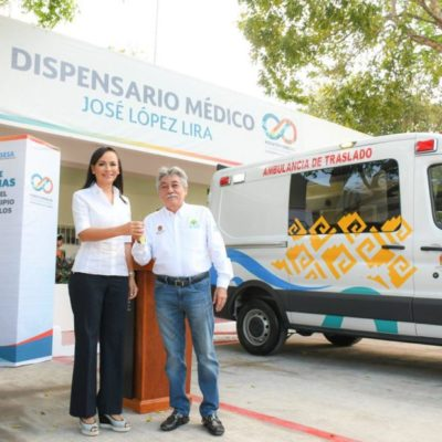 Puerto Morelos recibe dos ambulancias por parte del Gobierno del Estado para traslado de pacientes