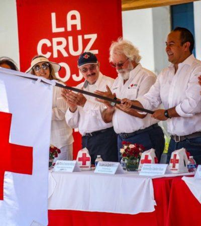 Gobierno de Isla Mujeres participa en la campaña de recolecta de la Cruz Roja Mexicana
