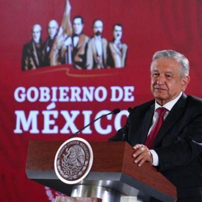Anuncia López Obrador que mañana se reunirá con todos los gobernadores de la nación para tratar temas de seguridad; QR todavía está a la espera de la Guardia Nacional, asegura el Presidente