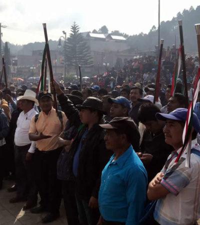 Pobladores de Oxchuc, Chiapas, elegirán a su alcalde 'a mano alzada' este sábado