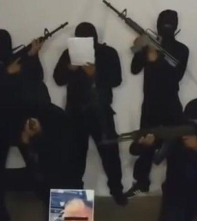 VIDEO | Denuncia grupo armado a presuntos responsables de la ola de ejecuciones en Tabasco