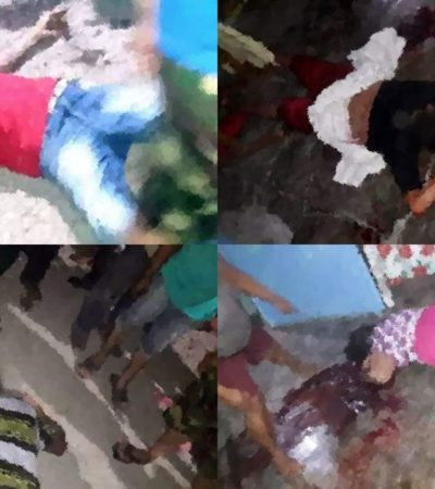 Asesinan a tres hombres, una mujer y un menor en casa donde presuntamente vendían drogas en Tabasco