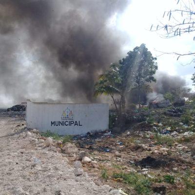 Se quema el basurero de Felipe Carrillo Puerto