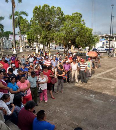 Protestan burócratas de FCP al no recibir quincena; no cederán pese a que autoridades buscan diálogo