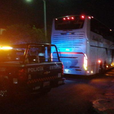 VIDEO | Camión con turistas se lleva cables de energía eléctrica en Othón P. Blanco