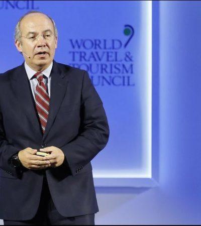 Defiende Calderón lo que llama la 'nueva economía climática' para crear empleos