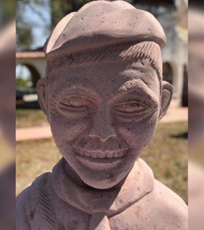 Escultor de los singulares bustos de Juárez y AMLO presenta ahora su versión de 'Cantinflas'