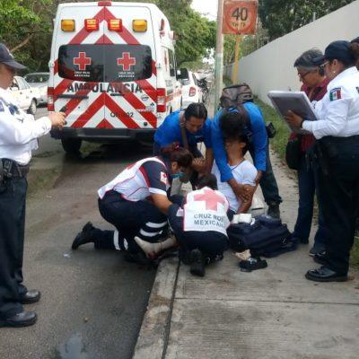 Atropella a motociclista y se da a la fuga, en Chetumal