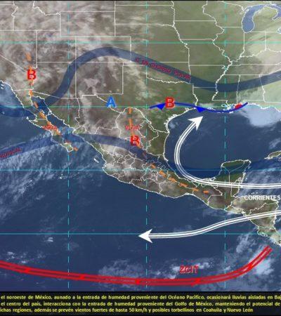 PRONÓSTICO DEL CLIMA: Viernes caluroso con algunos nublados en Quintana Roo