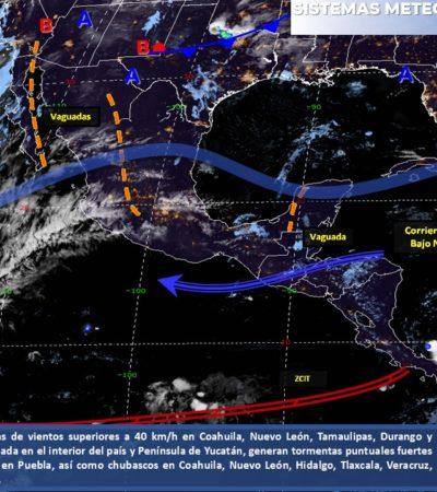 PRONÓSTICO DEL CLIMA: Calor, posibles lluvias y rachas de viento, las previsiones para el domingo en Quintana Roo