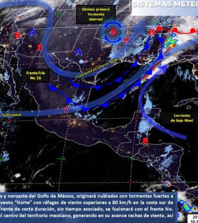 PRONÓSTICO DEL CLIMA: Calor, nublados y algunas lluvias con tormenta para Quintana Roo