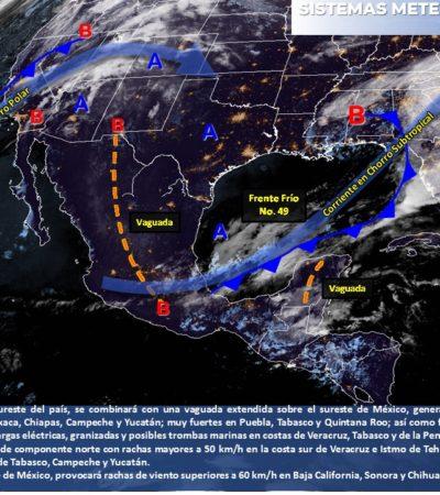 PRONÓSTICO DEL CLIMA: Un martes lluvioso para Quintana Roo