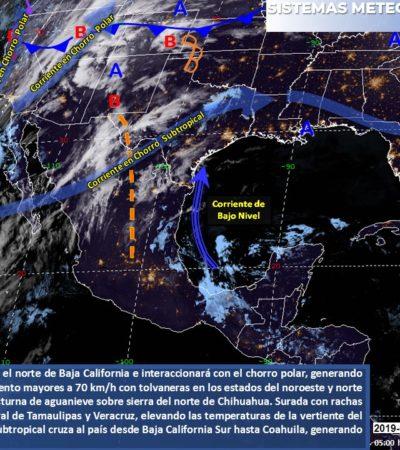 Se aleja frente frío; mejora el clima en Quintana Roo