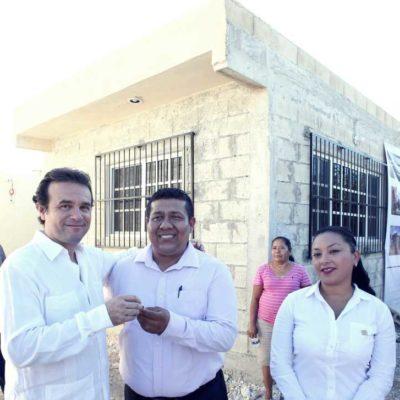 Entrega Pedro Joaquín obras por más de 2.5 mdp en Cozumel