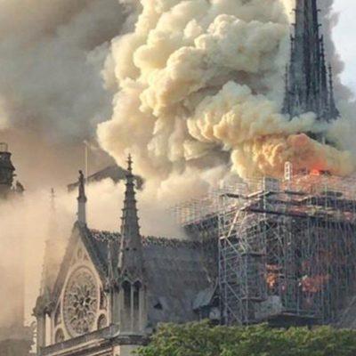 INCENDIO EN LA CATEDRAL DE NOTRE DAME: Consume el fuego la cúpula de uno de los monumentos históricos más visitados de Europa