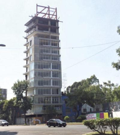 Ordenan demoler siete de quince pisos de un edificio habitacional en la CDMX por ignorar reglamentos