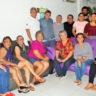 Visita Enoel Pérez a vecinos de los fraccionamientos Tierra Maya, Barrio Maya y Santa Fe Plus en el Distrito 7 de Cancún