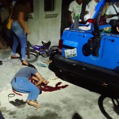 DOBLE EJECUCIÓN EN CANCÚN: Matan a balazos a dos personas en la Región 219; hay un herido