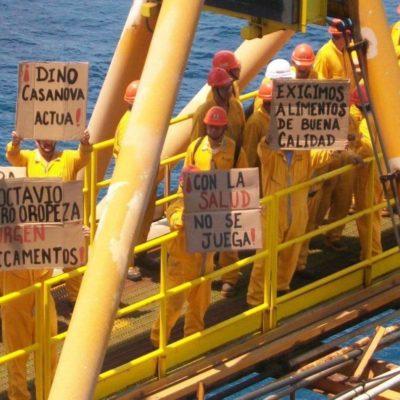 Se declaran en huelga de hambre 600 obreros de la plataforma Akal-C por mala calidad de alimentos