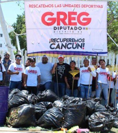 Ante apatía y desinterés de las autoridades, los ciudadanos recuperaremos Cancún, asegura Greg Sánchez en campaña por el Distrito 3