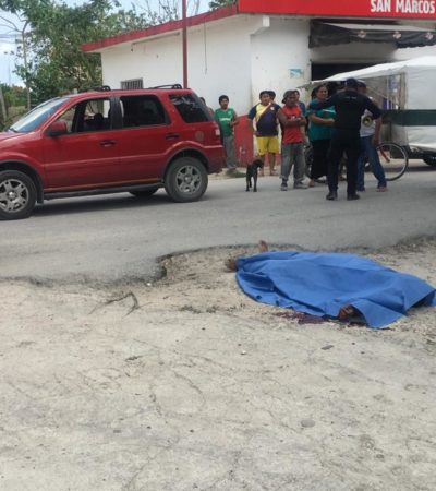 EJECUTAN A OTRO POLICÍA EN CANCÚN: Matan a balazos a agente de la Turística en la colonia Valle Verde