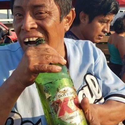 Rapiñan en Campeche tráiler volcado que transportaba cervezas