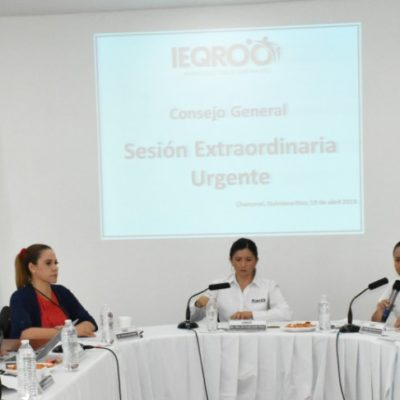 Restituye Ieqroo candidatura a Gustavo Miranda; en trámite la de Erika Castillo