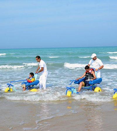 Cuenta Tamaulipas con Miramar, la primer playa incluyente del Golfo de México