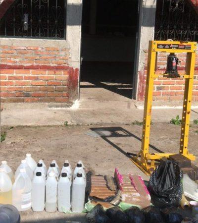 Desmantelan supuesto narcolaboratorio de metanfetamina en Tuxtla Chico, Chiapas