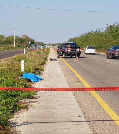Hallan el cuerpo de una mujer en la carretera Tekat-Conkal, en Yucatán