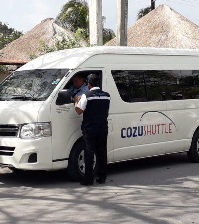 Revisan inspectores transporte en Cozumel