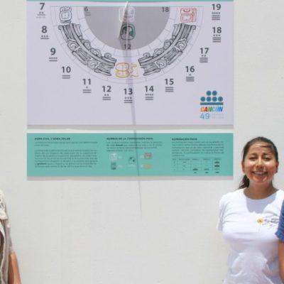 Fotos | Reloj solar maya adorna la Plaza de la Reforma de Cancún