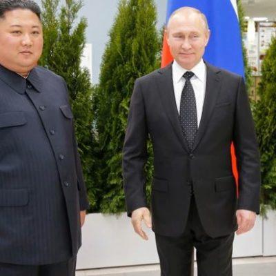 Exhiben Putin y Kim una gran sintonía personal; se prodigan elogios durante primer reunión binacional