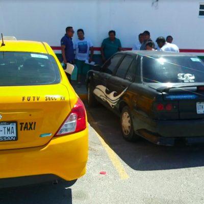 En vísperas del inicio de la temporada de Semana Santa, Policía Federal decomisa cinco taxis por transitar por carretera federal sin permiso y aplica multas de $42 mil pesos a cada uno