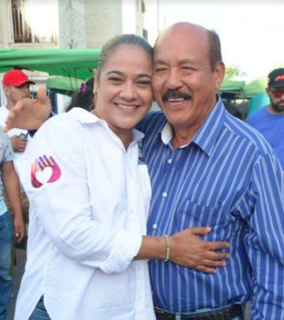ABRAZO DE CANDIDATOS RIVALES EN EL DISTRITO 4: Karla Romero visita a los ciudadanos del tianguis de Corales y se topa con un adversario