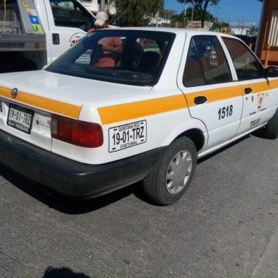 Taxistas de Chetumal al 50% de operaciones pese a Semana Santa; lamentan todavía no tener aumento a sus tarifas