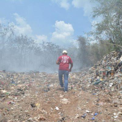 Controlan incendio en basurero de Felipe Carrillo Puerto