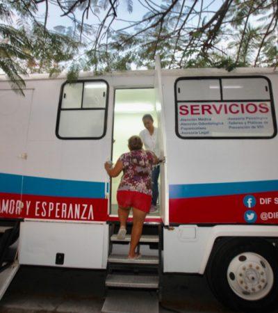 LLEVAN EL DIF A VILLAMAR 2:Más de diez servicios generales y de salud se ofrecieron en el domo del fraccionamiento