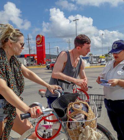 Arranca campaña para prevenir accidentes a ciclistas en Tulum