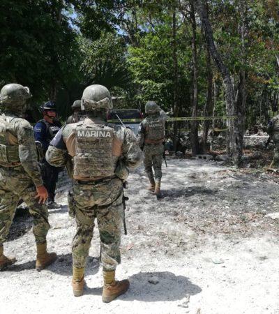 FUERTE OPERATIVO POR HOMBRES ARMADOS: Buscan en las inmediaciones de la comunidad de Noh Bec a presuntos pistoleros que viajaban en camioneta con placas de Yucatán