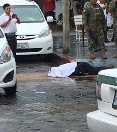 Ejecutan a un policía afuera de la terminal marítima de Ultramar en Puerto Juárez | VIDEO